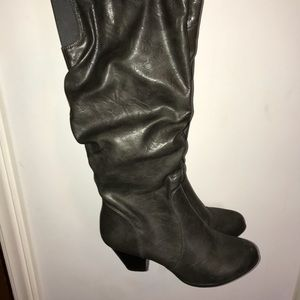 Shoes - Tall Heeled leather boots